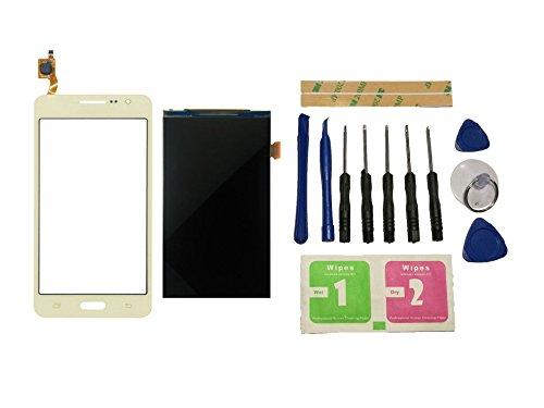 Flügel para Samsung Galaxy Grand Prime G531 SM-G531 SM-G531F pantalla LCD pantalla Display + Táctil Pantalla digitzer Oro (sin marco) de Recambio & Herramientas