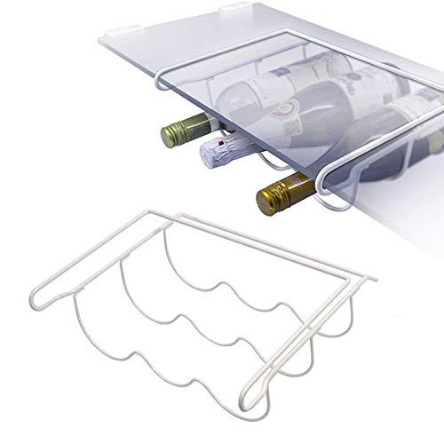 Qualtex Bottle & Wine Bottle Rack Shelf Holder For All Fridges - Fridge Bottle Storage Shelf