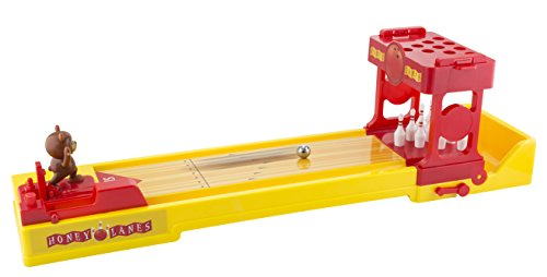 KOVOT Bear Bowling   Tabletop Bowling Game with Spring-Loaded Bear Bowler & Easy-to-Assemble Pins   Giant 23' Lane
