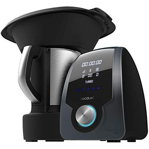 Cecotec Robot de Cocina Multifunción Mambo 7090. Capacidad 3.3L, Temperatura hasta 120ºC, Selección grado a grado, 10 Velocidades, Programable hasta 12h, Jarra apta Lavavajillas, 30 Funciones, 1700W.