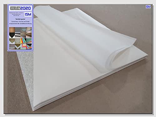 Papier 2020 1 kg, ca. 412 Stück Seidenpapier, Transparentpapier; weiß; 35 g/qm; 210 x 297 mm