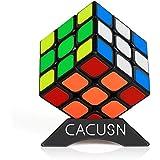 スピードキューブ 磁石内蔵 CACUSN M1.0 競技用キューブ 3x3x3 初心者向け ステッカー 世界配色ver.2.1 マグネット スタンド付き 初心者向け