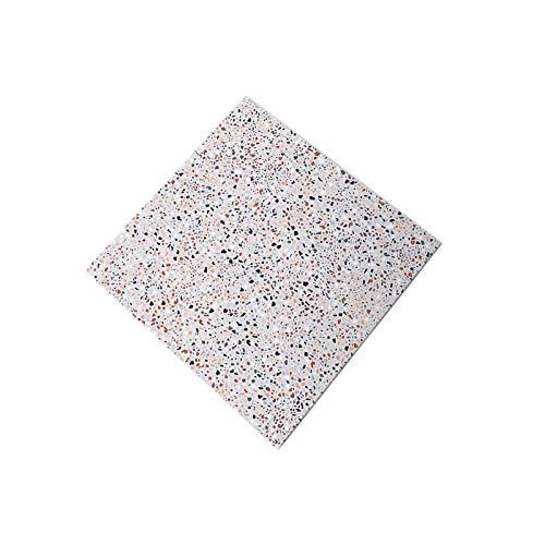 10 Piezas De Pegatinas De Suelo Pegatinas De Azulejos Antideslizantes Pegatinas De Pared Dormitorio Sala De Estar Pegatinas De Textura De Terrazo Esmerilado Impermeables Y Resistentes Al Desgaste
