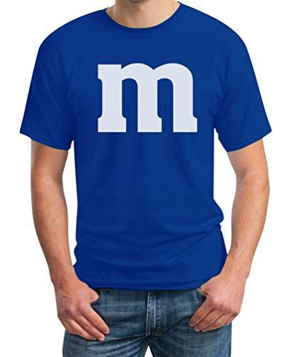 Süßes M Outfit Herren Karneval Fasching Gruppen-Kostüme T-Shirt Large Blau