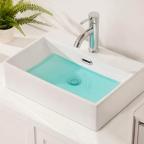【高級排水セット付き】おしゃれ 洗面ボウル セット 洗面台 大型洗面ボール 置き型 手洗い鉢 陶器製 手洗い器 トイレ 手洗いボウル 510*360*130mm(長方形)