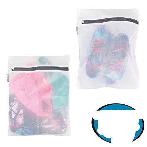 2 unids / lote Bolsa de lavado de malla de malla para ropa Sujetador de ropa Calcetines de lencería Ropa interior Bolsa de lavado de ropa con bolsa con cremallera para lavar-M, Estados Unidos