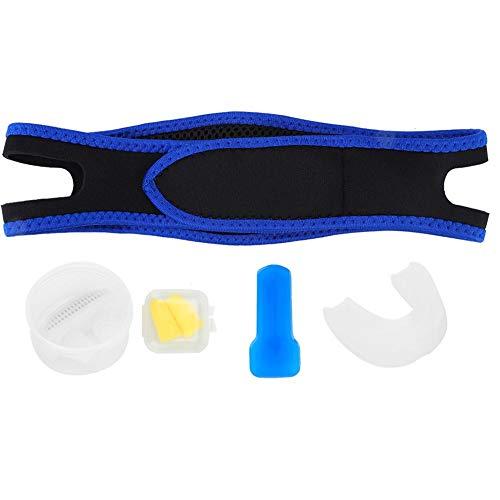 Antisnurkapparaat - Snurkoplossing Stop met snurken Nachtrust Hulpset met oordop + tandenbakje + kinriem voor mannen en vrouwen(Wit)