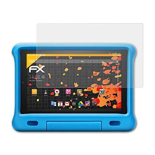 atFolix Panzerfolie kompatibel mit Amazn F¡re HD 10 Kids Edition 2019 Schutzfolie, entspiegelnde und stoßdämpfende FX Folie (2X)