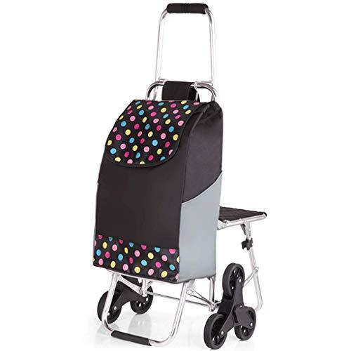 Carrello pieghevole con triciclo in gomma...