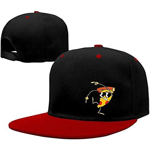 BallainB Uncle Grandpa Pizza Steve Unisex Cotton Adjustable Snapback Hat One Size Red