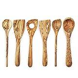 Forest Decor Wood Kitchen Utensils Set, Olive Wood...