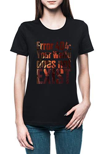 Error 404 - Doki Doki Literature Club Monika Femme T-Shirt Tee Noir Women's Black T-Shirt