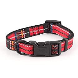 Ancol adjustable collar, fits dogs with necks measuring from 30 cm up to 50 cm. Please measure your dog to ensure correct fit. Colourfast, weatherproof and machine washable Adjustable collars are perfect for growing puppies as the collar grows with ...