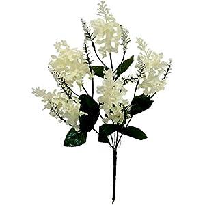 Floral Décor Supplies for Lilac Bush Artificial Silk Flowers Wedding Bouquet Centerpieces Decor Fake Faux for DIY Flower Arrangement Decorations – Color is Cream/Ivory