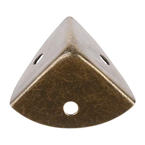 XUNXI Manija de Maleta, Protector de Esquina de Metal Gabinetes de Maleta Protector de Seguridad de Borde Ángulo de Envoltura de Bronce Antiguo para Muebles de Soporte de Estante de Caja