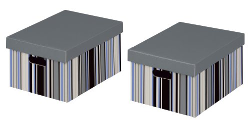 NIPS 163149274 OFFICE Mehrzweckbox A4 mit Deckel, B 25,0 x T 33,0 x H 18,5 cm, 2er Packung, mehrfarbig