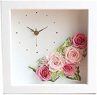 FLABEL プリザーブドフラワー バラ 時計 花の時計 FlowerClock ギフト ピンク