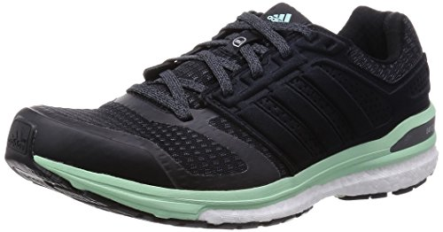 adidas Supernova Sequence Boost 8 W Herren Trainieren/Laufen, Black (Core Black/Iron Metal./Frozen Green F15), 38.7