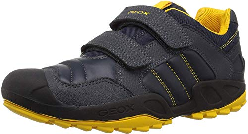 Geox J New Savage Boy A, Zapatillas Niños, Azul (Navy/Yellow C0657), 25 EU