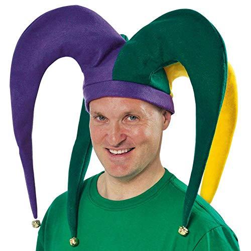 Amscan 391191 Giant Mardi Gras Color Jester Adult Hat