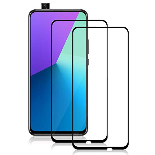 YEEHAN P Smart Z Panzerglas,Huawei P Smart Z Panzerglas Schutzfolie [2 Stück] [Full Screen] [9H Härte] [Ultra-klar] [Anti-Kratzen] Displayschutzfolie für Huawei P Smart Z