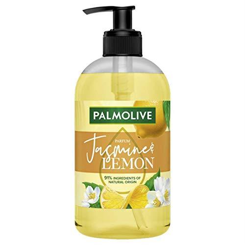 PALMOLIVE – Jabón líquido manos botanical jazmín & limón – Fórmula delicadamente perfumada – Dispensador de jabón de 500 ml