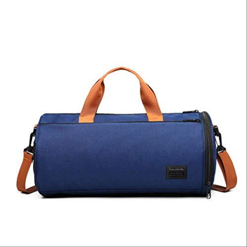 Generic Brands Sacs de fitness multifonctions pour sports de plein air avec compartiments à chaussures et sacs humides, sacs à main de yoga, sacs de natation humides et secs. bleu