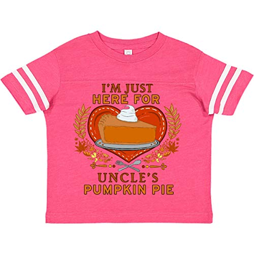 inktastic I'm Just Here for Toddler T-Shirt 5-6 Football Pink and White 37ac2