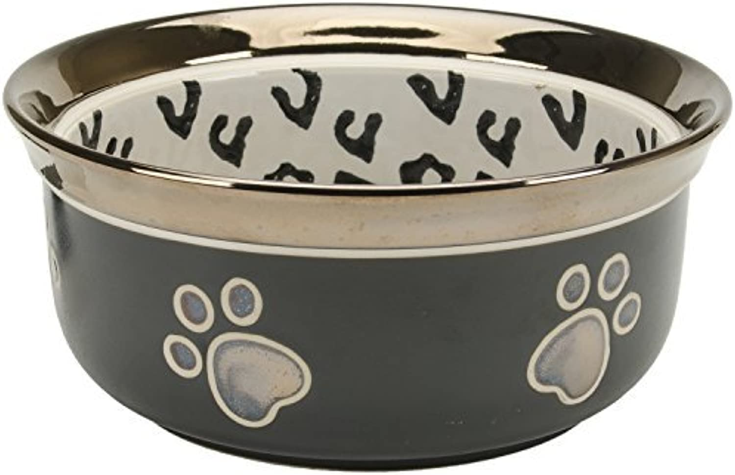 Ethical Pet Products (Spot) Ritz Copper Rim Leopard Dish, 7 by Ethical Products
