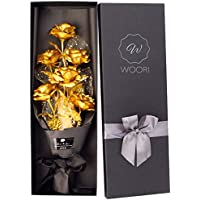 24K Gold-Plated Rose Bouquet