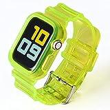 gujiu novità Band Band + per Apple Watch Series 6 SE 5 4 3 2 1 Trasparente per Cinghia IWATCH 38mm 40mm 42mm 44mm Cinturino in plastica (Band Color : 3, Band Width : 42MM And 44MM)