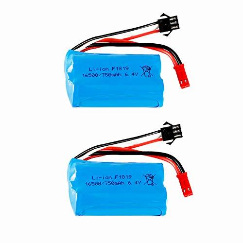 2 pcs 6.4v 750mAh 16500 LiFePO4 Battery for WLtoys A949-A A959-A A969-A A979-A RC Truck Car