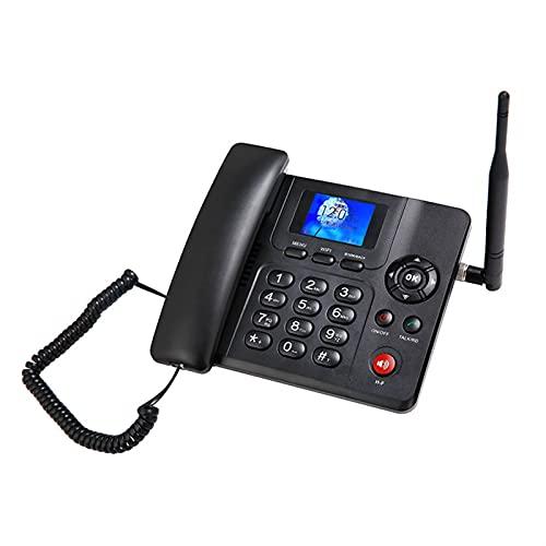 Teléfono inalámbrico 3G 4G WIFI Teléfono Inalámbrico Bluetooth, Con Doble Lenguaje Doble SIMULACIÓN Teléfono De Pantalla De Color De Tarjeta Para La Oficina De Oficina Para El Hogar Línea fija sin cab