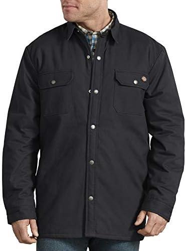 Dickies Men s Plaid Lined Shirt Jacket Black Large product image