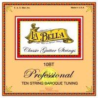 La Bella juego de 10-cuerdas Guitarra de sintonización con barroco