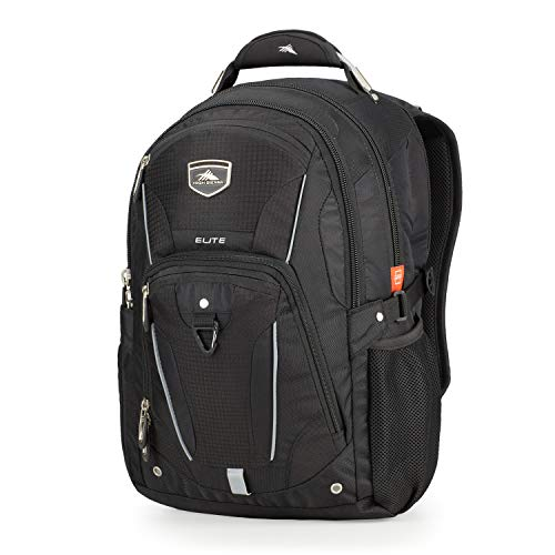 High Sierra 60340-1041 Elite Laptop Backpack, Black, One Size