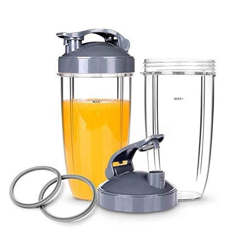 Licuadora portátil Vasos de repuesto for licuadora portátil con tapa abatible for la licuadora / mezcladora de alta velocidad de 6 piezas, junta y vasos de 32 oz Pequeños electrodomésticos de cocina