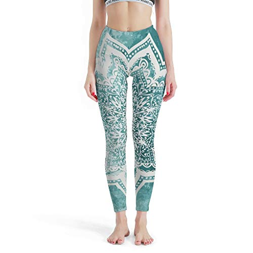 XHJQ88 -Dromerige Mode Womens Leggings, Leggings Depot Joggers Mintish Mandalas Patronen Zomer Capri Panty Leggings voor meisjes