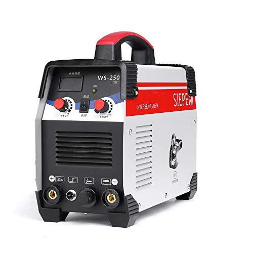 Inverter-Lichtbogenschweißen elektrische Schweißmaschine, Dual-Use-Dual-Spannung WS-250A Inverter DC Edelstahl 220V Schweißen/Argon-Lichtbogenschweißen,B