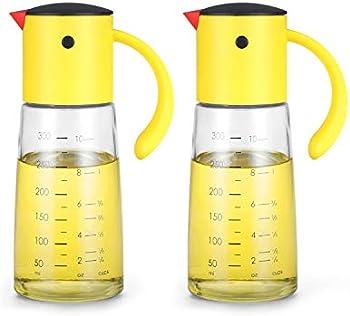 2-Pack Vucchini Olive Oil Dispenser Bottle for Kitchen Cooking