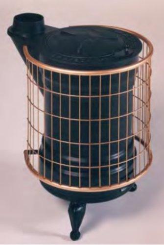 Panadero M288844 - Estufa de leña fundidad negra y oro