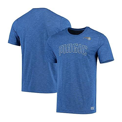 Wo nice Camisetas De Baloncesto para Hombre, Orlando Magic NBA Suelta Y Transpirable Camisetas Casual Deportes Chalecos Camisetas De Manga Corta,Azul,S(160~165CM)