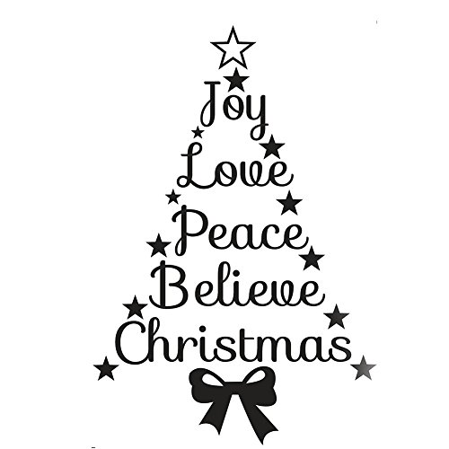 Seawang Kerstmis Muursticker Verwijderbare muursticker Xmas Home Shop Raamdecoratie