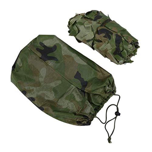 RONGJJ Tragbare Jagd militärische Tarnung Netz Wald Armee Training Tarnung Netz Auto Abdeckung Zelt Schatten Camping Markise Durable -1,5 x 6, 1,5 x 4