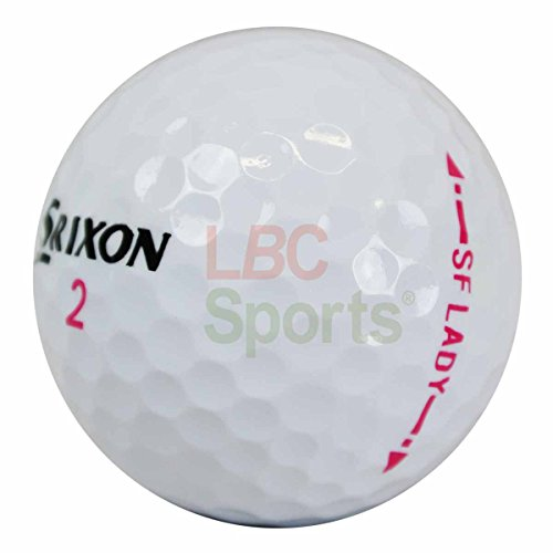 lbc-sports, 50 palline da golf Srixon Soft Feel Lady,AAAA, bianche,palline da stagno