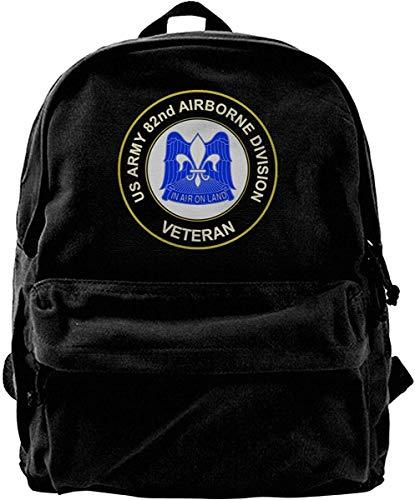 US Army 82nd Airborne Vintage Unisex Canvas Shoulder Bag Mochila de Viaje Mochilas Escolares