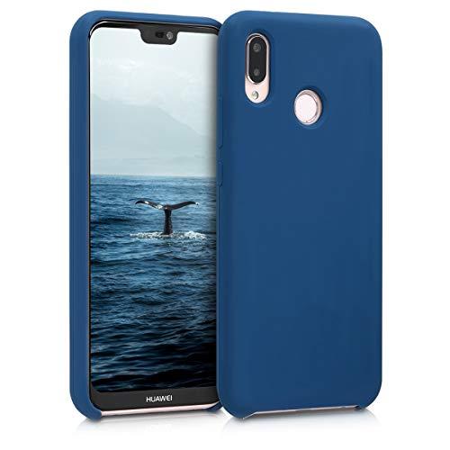 kwmobile Cover Compatibile con Huawei P20 Lite - Cover Custodia in Silicone TPU - Back Case Protezione Cellulare Blu Marino