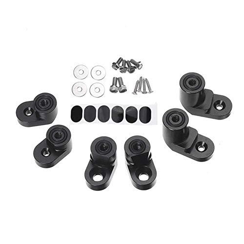 MADAENMJ Kit De Soporte De Elevación De ala Trasera De Extensión De Alerón Trasero De Coche Negro para Ford Fiesta St Hatchback 4Dr 2014-19