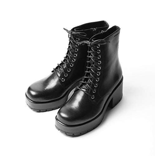 Vagabond Dioon Black Lace Up Chunky Block High Heel Boots EU37, 38, 39 (6)