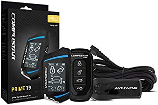 Compustar RF-2WT9FM 2-Way Remote start kit with 4-Button RF LCD 1-way remote, 3000 Ft range and FMX Technology